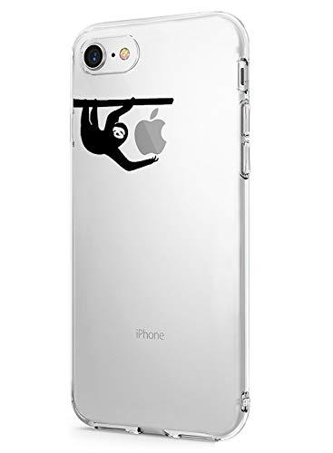Alsoar - Carcasa para iPhone 8 y iPhone 7 (Silicona, TPU, Blanda, Ultrafina, Transparente, Resistente a los arañazos, antigolpes)