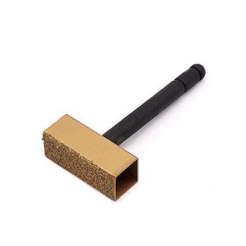 1 pieza de mano, herramienta de tocador de piedra de diamante, tocador de muela rectificadora, rectificadora, desbarbado, tocador, rueda de torno, herramienta de disco limpio, 89x50x21mm