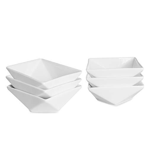 THE CHEF COLLECTION – Set aus 6 kleinen Schälchen, Wonder-Kollektion, Schüssel aus weissem Porzellan , Sossen-Schälchen, Aperitif. 8,8x8,8x3,7 cm.
