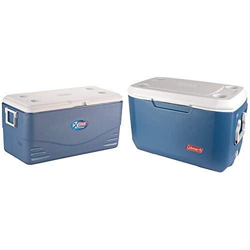 Coleman 100QT Kühlbox Xtreme, 90,8 l, eisblau/weiß & 70 QT Kühlcontainer Xtreme