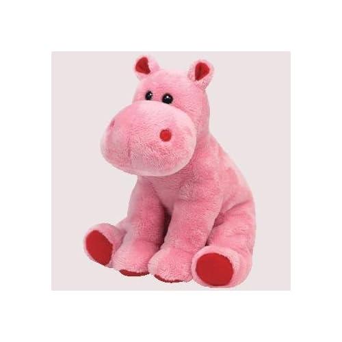 TY Beanie Baby - BIG KISS the Pink Hippo (6 inch) b97ff625b9e0