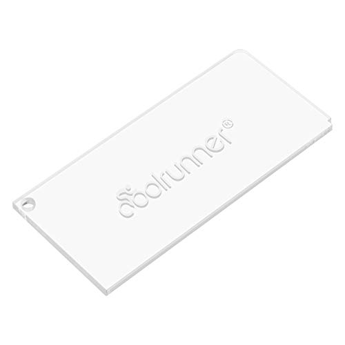 Coolrunner Ski Wax Scraper Heavy Duty Snowboard Wax Scraper with Right Notch for Removing The Extra Cooled Wax from The Skis Snowboards (5.1 2.30.15 in)