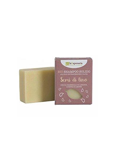 Shampoo solido ai semi di lino - La Saponaria - biologico certificato - 100 gr