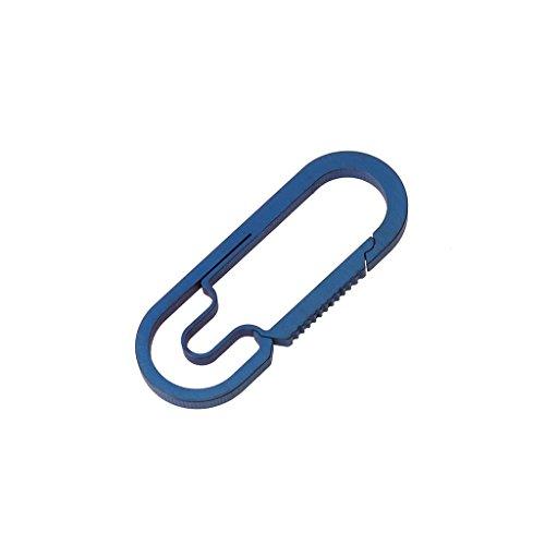 ruiruiNIE EDC Camping en Plein air Mousqueton en Alliage de Titane Keychain Pendaison Boucle Crochets à Pression - 4 b-Bleu