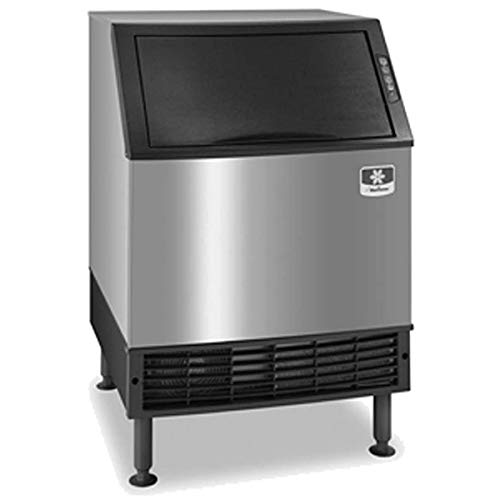 Manitowoc UYF0240A NEO 26' Air Cooled Undercounter Half Dice Cube Ice Machine with 90 lb. Bin - 219 lb, Stainless Steel