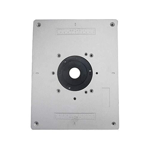 Shisyan Grabado Junta de tapa - 300 * 235 * 9,5 mm Tratamiento de la madera del ajuste de la máquina de grabado del tirón Junta múltiples funciones de DIY Ajuste fino de aluminio router Insertar tabla