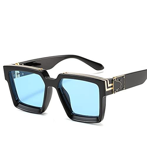 AMFG Gran Marco Gafas De Sol Mujeres Y Hombres Moda Tendencia Gafas De Sol Hombres Sombrilla Al Aire Libre Y Parabrisas (Color : C)