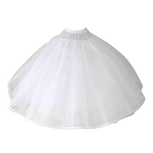 yanni Damen 8-lagiges Tüll-Ballkleid, Brautkleid, Hochzeitskleid, Petticoat ohne Ringe, Abendkleid, Abschlussball, Crinoline, halber Slip, bauschiger Unterrock