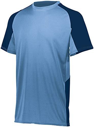 Augusta Sportswear Men's 2XL 1517, Columbia Blue/Navy, XX-Large