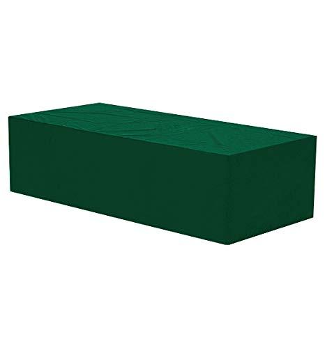 WOLTU Funda para Muebles de Jardín Cubierta Protectora Exterior de Polvo para Mesa contra Viento Lluvia Sol Protección UV Impermeable Verde 218x77x55cm GZ1173-c