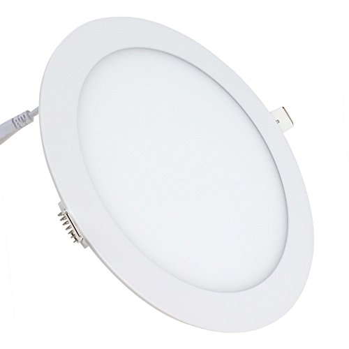 Placa LED SuperSlim Redondo 20W Downlight LED Empotrado Φ225mm 6000k-6500k Blanco Frío 1800 Lúmenes ONSSI LED