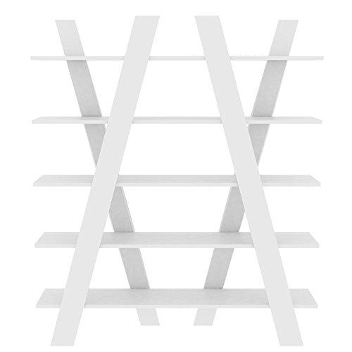 Paris Prix - Temahome - étagère Bibliothèque Wind 160cm Blanc