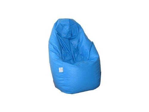 Natalia Spzoo® Puff Bean Bag puf butaca Polipiel para Adultos y Adolescentes (Azul)