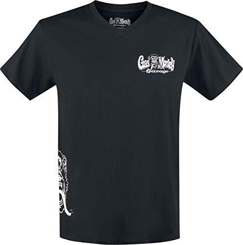 Gas Monkey Garage T-Shirt Side Monkey, Color:black;Größe:L