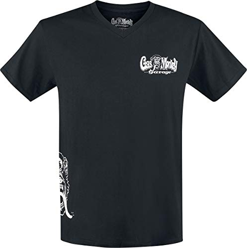 Gas Monkey Garage T-Shirt Side Monkey, Color:black;Größe:M