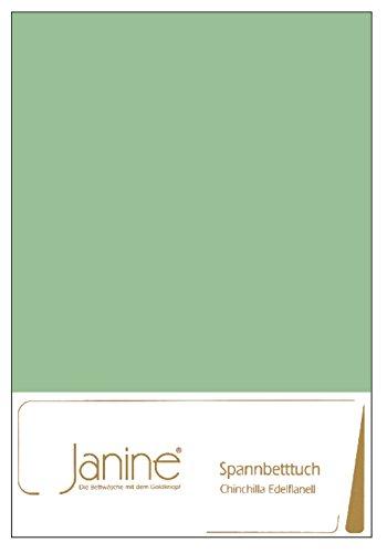 Janine Spannbettlaken Chinchilla Edelflanell 7000, Größe:100 x 200 cm, Farbe:grün 26