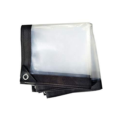 KUYUC Lona Transparente con Ojales, Impermeable Polietileno Lona de Protección para Invernadero a Prueba de Lluvia Toldos de Plantas, 120g/m² (Color : Clear, Size : 3x4m/10x13ft)