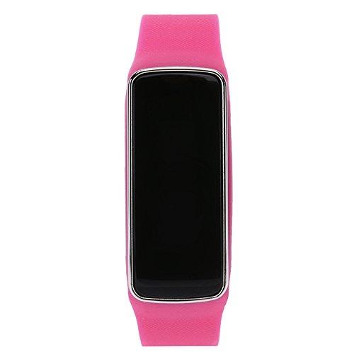 chebao, Reloj inteligente, resistente al agua con monitor de sueño, reloj inteligente V5S, recordatorio de llamadas, podómetro para Android iOS (rosa rojo)-132935.04
