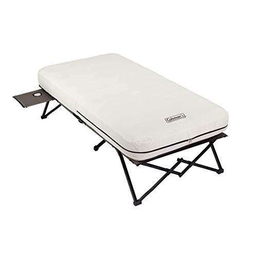 Coleman Twin Airbed Folding Cot with Side Table and 4D Battery Pump (Renewed)