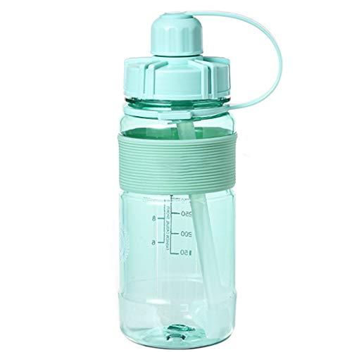 holilest Hervidor, 1.5L / 2L Botella de Agua Deportiva de Gran Capacidad Botella de Agua portátil de plástico para Campamento al Aire Libre-Verde -20