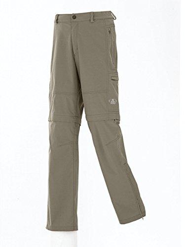 Maul Hommes Stretch Outdoor Pantalons de randonnée ONTARIO 2 en 1 FERMETURE ÉCLAIR ZIPP OFF PANTALON Bermuda gris - Beige, 54
