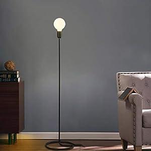 WEM Ikea Lámpara de Pie, Led de Lectura de Pie, Lámparas de Pie de Hierro Retro Loft Creativo Decoración Individual de Arte Habitación Habitación Lámparas de Dormitorio Protección de Los Ojos Lámpara