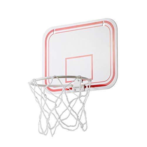 Garneck Basketballkorb mit Rahmen zum Aufhängen an der Decke, ohne Punzierung, aus Kunststoff, Mini-Basketballkorb mit Ball für Kinder, Weiß