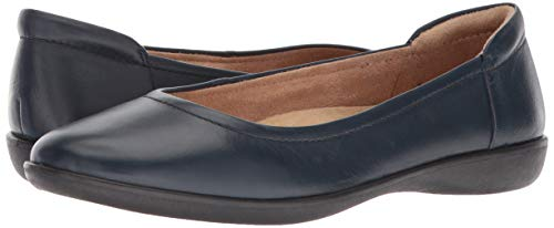 Naturalizer womens Flexy Ballet Flat, Navy Leather, 9 US