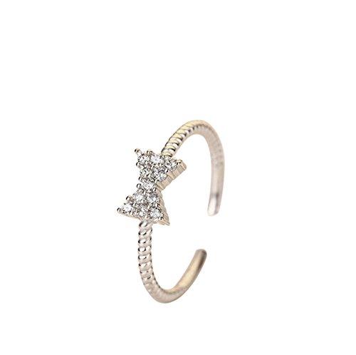 Drawihi 1 x Arco de diamante con anillo abierto Joyería Mujer Anillos...