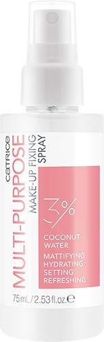 Catrice Skin Lovers Multi-Purpose Make-Up Fixing Spray, transparent, für Mischhaut, fixierend, langanhaltend, mattierend, grundierend, mit Vitaminen, transluzent, natürlich, porenlos (75ml)