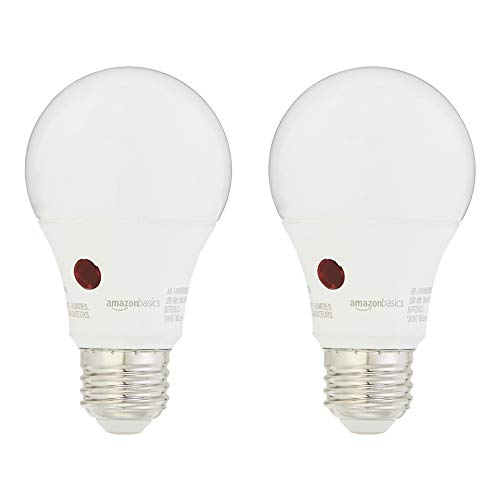 UL Listed Auto On//Off Photocell Light Sensor Bulb 800LM 9W E26 Base 5000K Daylight Non-Dimmable Hykolity 4 Pack Dusk to Dawn A19 LED Light Bulb 60 Watt Equivalent