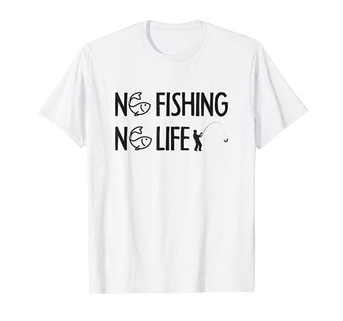 No Pesca No Vida Pesca Caña Pescador Pescador Divertido Pesca Pesca Divertido...