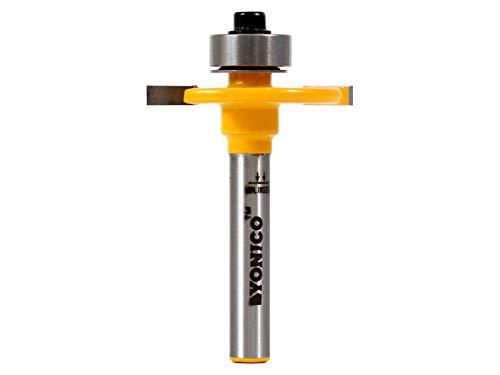 Yonico 14081q broca de corte de ranura de 1/8 pulgadas de altura x 3/8 pulgadas de profundidad, vástago de 1/4 pulgadas