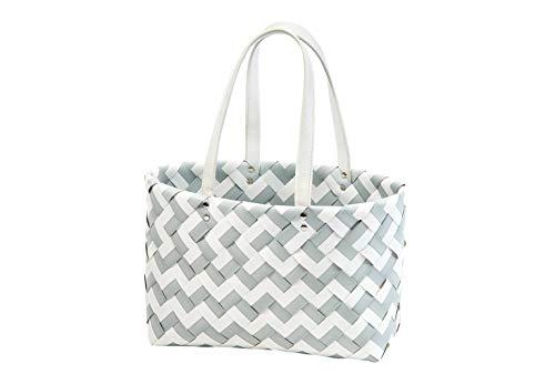 Kobolo Tasche Einkaufstasche Einkaufskorb Kunststoff Shopper Lockardi Zigzag XL