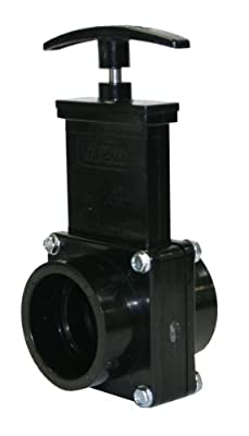 "Valterra 7101 ABS Gate Valve, Black, 1-1/2"" Slip from Valterra Products"