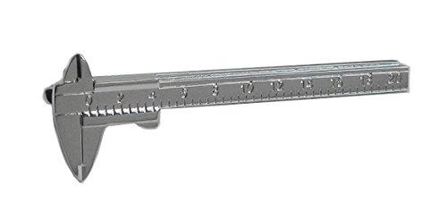 Unbekannt Messschieber Schieblehre Krawattenklammer Krawattennadel silbern 6,5 cm mit hochwertiger Aligatormechanik + Silberbox
