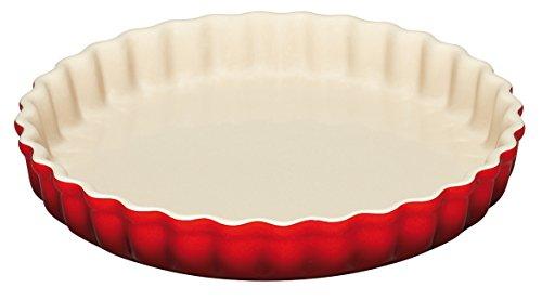 LE CREUSET 91041200060000 Coffret Moule A Tarte 28CM CER, Céramique, Rouge, 28 cm
