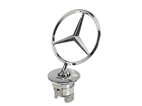 Front Emblem Hood Star Assembly - Compatible with 2007-2010 Mercedes Benz S550