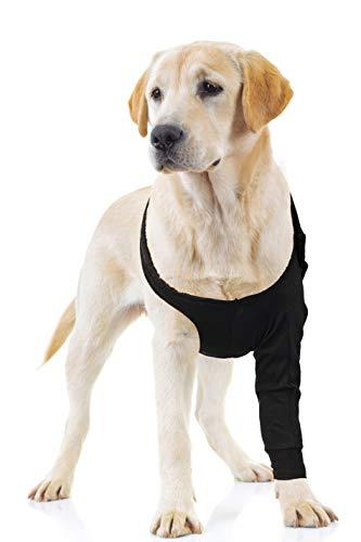 Suitical Recovery Sleeve für Hunde, Größe L, Schwarz