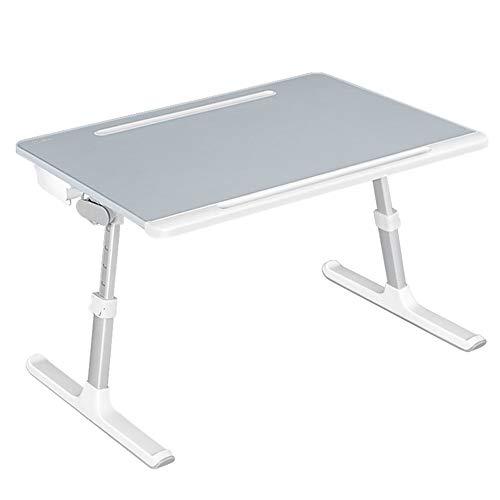 XiuHUa Opvouwbare tafel, bed ontbijt dienblad verstelbare lift student luie beugel slaapkamer home desk draagbare laptop bureau met boekenplank/tafel
