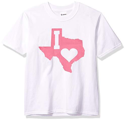 Soffe Girls' T-Shirt, Texas Heart, Large