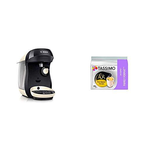 Bosch Electroménager Tassimo Happy TAS1007 Machine à boissons chaudes, 1400 W, 0.7 litre, Crème + Tassimo L'OR Petit Déjeuner Classic 120 boissons (Pack de 5x24 Tdisc)