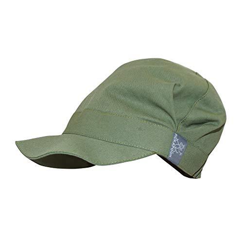 PICKAPOOH Schirmmütze Rico für Kinder und Erwachsene mit UV-Schutz Bio-Baumwolle, Olive Gr. 54