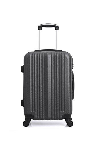 Hero Lipari Suitcase, 55 cm, 37 liters, Grey (Gris Fonce)