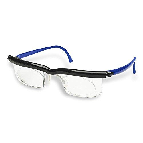 HC Handel 936186 Adlens-Brille mit individuell einstellbaren Gläsern von -6 bis +3 Dioptrien - blau