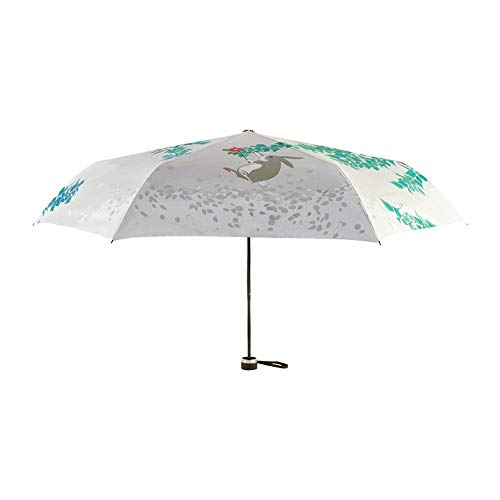 Ombrello Ombrello pieghevole 6 ossa estate ombreggiatura protezione termica protezione della pelle conigli abbronzanti comodo da trasportare ombrello pesante pioggia leggera durata con coperchio ZHQHY
