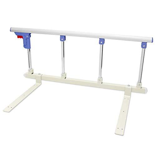 Signstek Barandilla plegable para cama portátil, barra de seguridad para personas mayores, adultos, soporte para barra de cama para hospitales, barra de metal