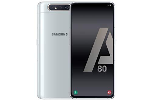 Samsung Galaxy A80 Smartphone de 6.7' FHD+ (Pantalla Infinita, 8 GB RAM, 128 GB ROM, versión española), Color Plata