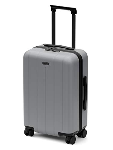 CHESTER Minima Carry-On Luggage / 22'x14'x9' Lightweight Polycarbonate Hardshell/Spinner Suitcase/TSA Approved Cabin Size (Fog (Aluminum Grey), Carry-On Luggage)