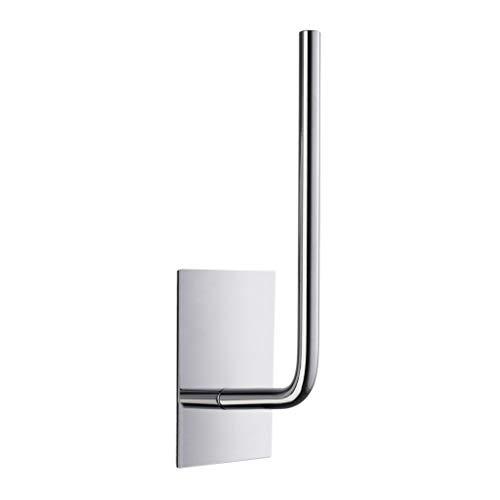 Toilettenpapierhalter mit rechteckiger Platte aus poliertem Edelstahl